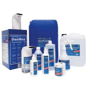 Die verschiedenen Gebinde für das AquaJet® Anolyte