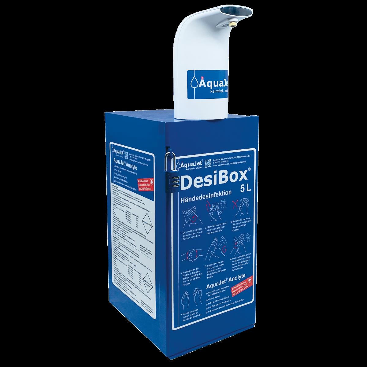 Bild DesiBox für die Händedesinfektion